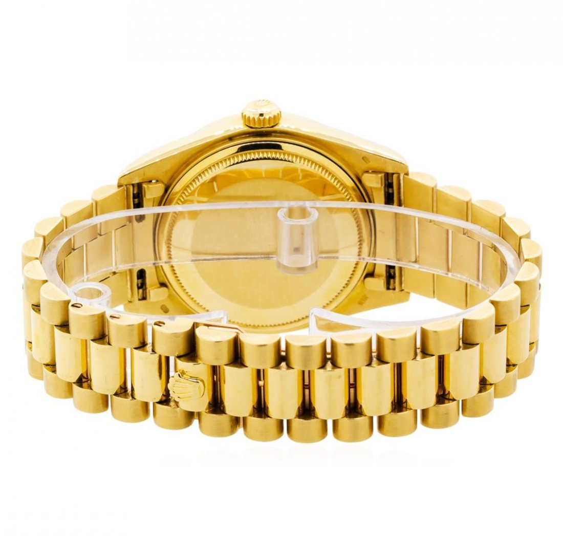 Mens 18KT Yellow Gold Rolex President Watch with - 4