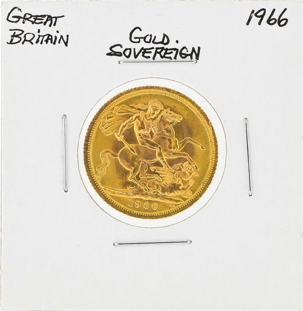 1966 Great Britain Gold Sovereign Coin