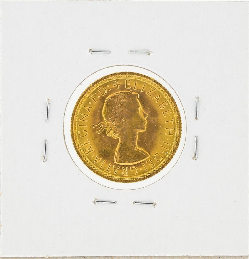 1966 Great Britain Gold Sovereign Coin - 2