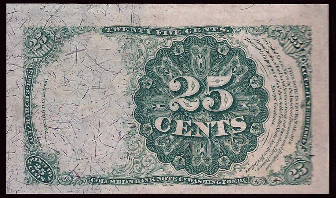 March 3, 1863 25 Cent 5th Issue Fractional Note - 2
