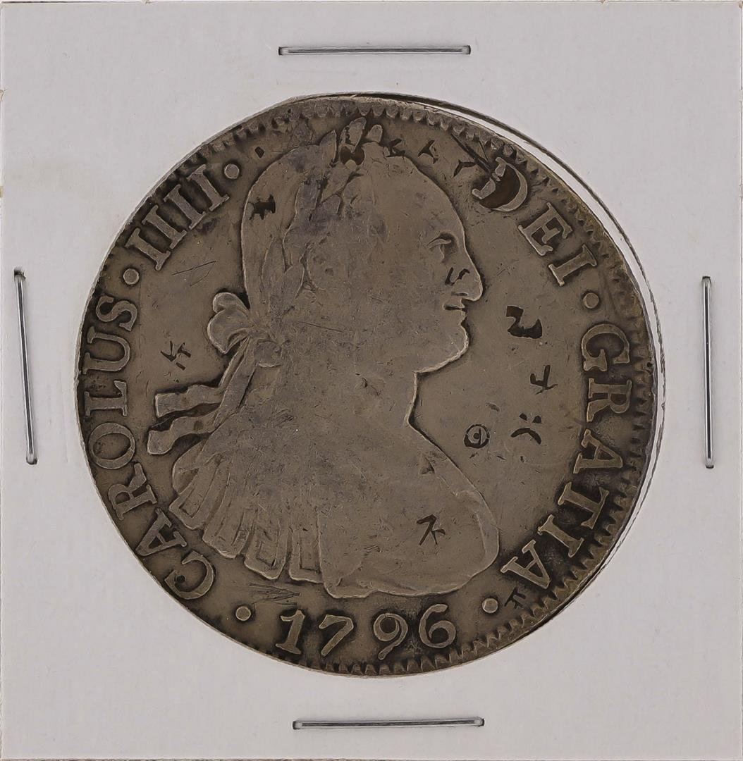 1796M 8 Reales Mexico Spanish Silver Coin