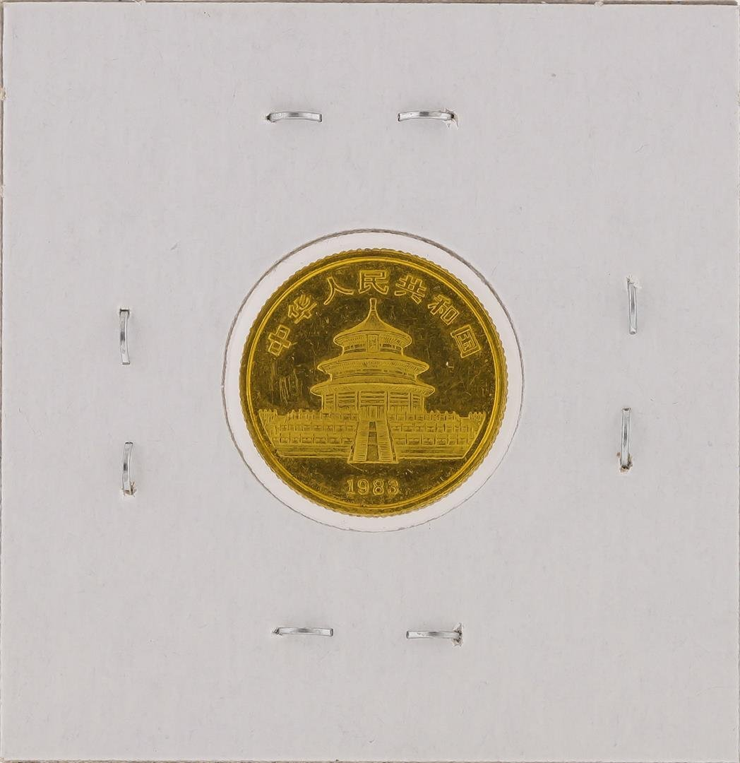 1983  1/10 oz China Panda Gold Coin - 2