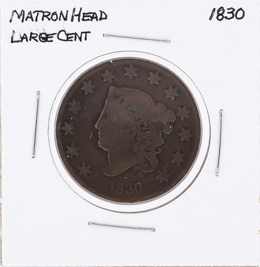 1830 Matron Head Large Cent Coin