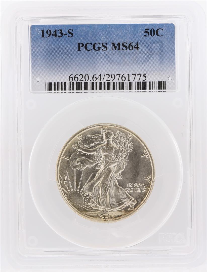 1943-S Walking Liberty Half Dollar Coin PCGS Graded