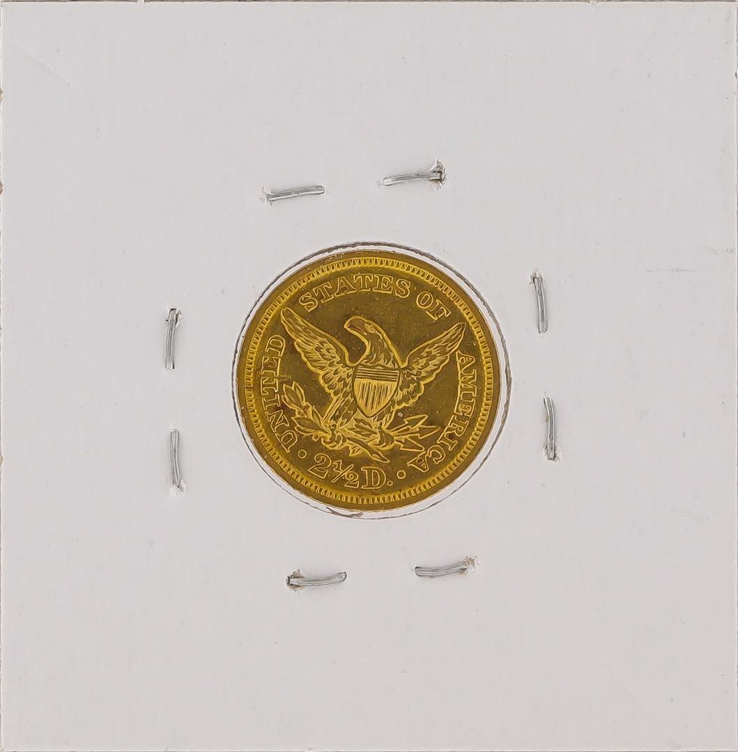 1850 $2 1/2 Liberty Head Quarter Eagle Gold Coin - 2