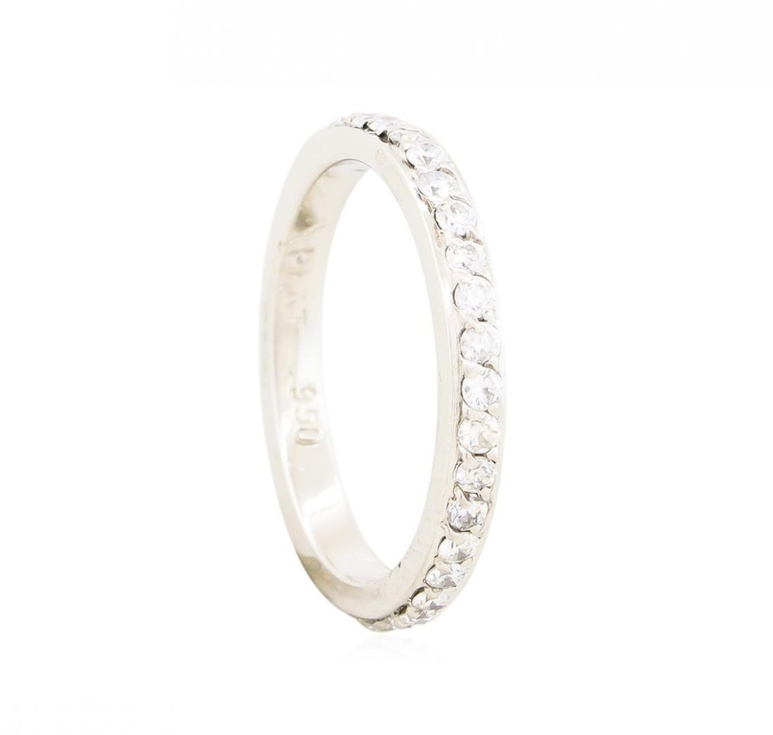 Platinum 0.37ctw Diamond Wedding Band Ring