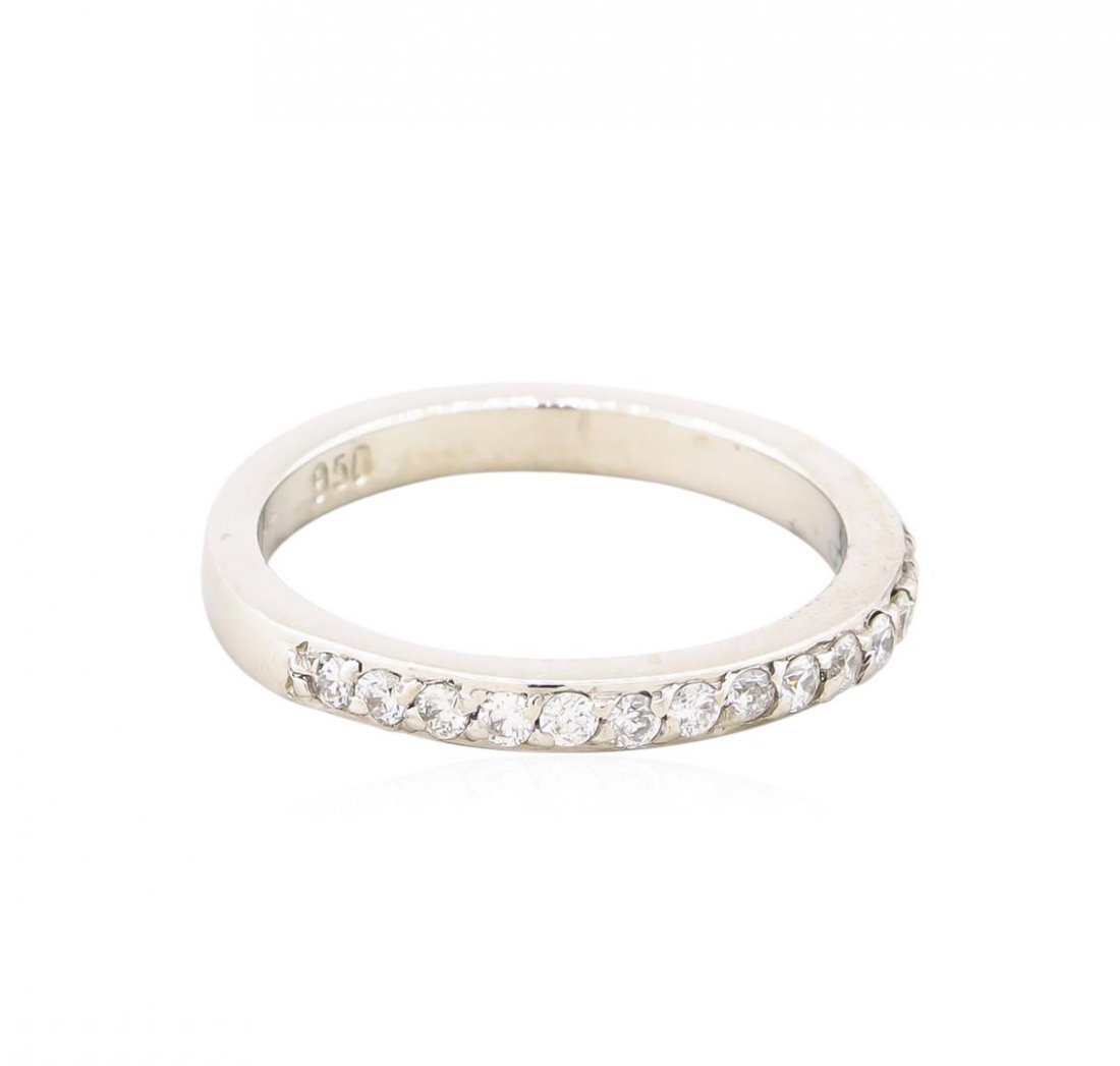 Platinum 0.37ctw Diamond Wedding Band Ring - 2