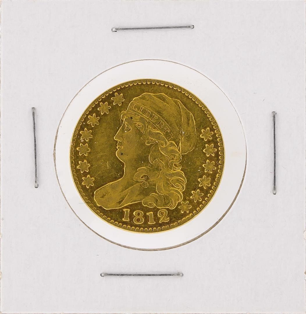1812 $5 Capped Bust Half Eagle Gold Coin XF