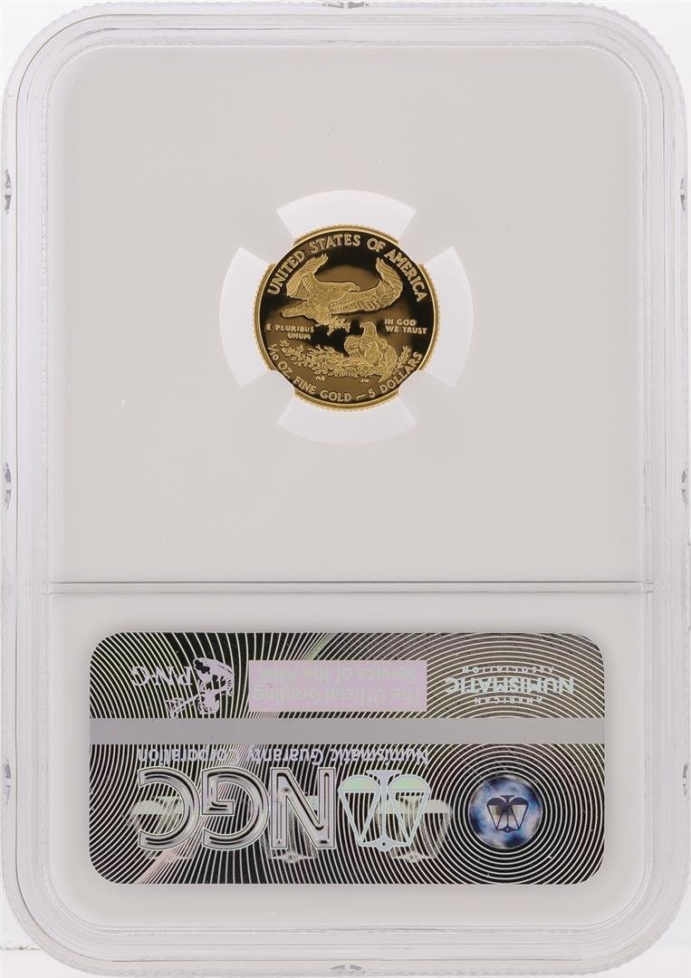 2015-W $5 American Gold Eagle Coin NGC Graded PF70 - 2