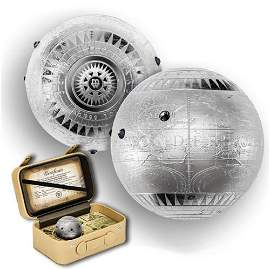 2015 7 oz Fine Silver Spherical Coin Seven New Wonders