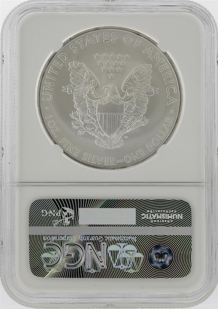 2012-S $1 American Silver Eagle Coin NGC Graded MS69 - 2