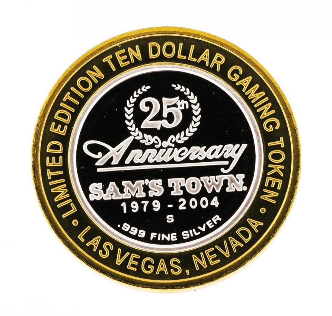 .999 Silver Sam's Town Las Vegas, NV $10 Casino Limited - 2