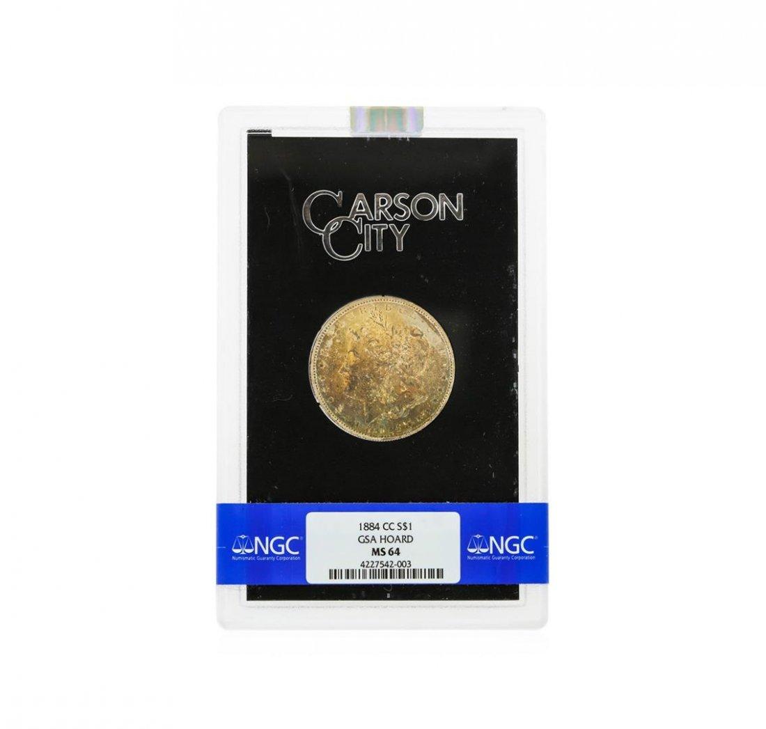 1884-CC $1 Morgan Silver Dollar GSA Hoard NGC Graded
