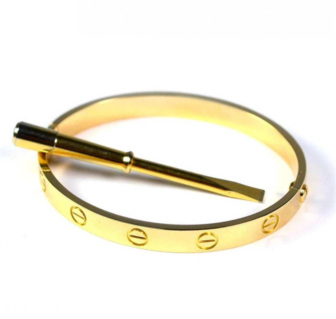 Authentic Cartier Love Bracelet Yellow Gold Size 16