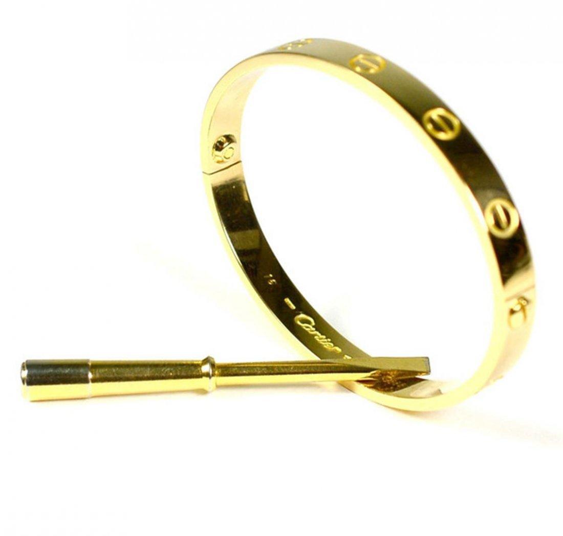 Authentic Cartier Love Bracelet Yellow Gold Size 16 - 3