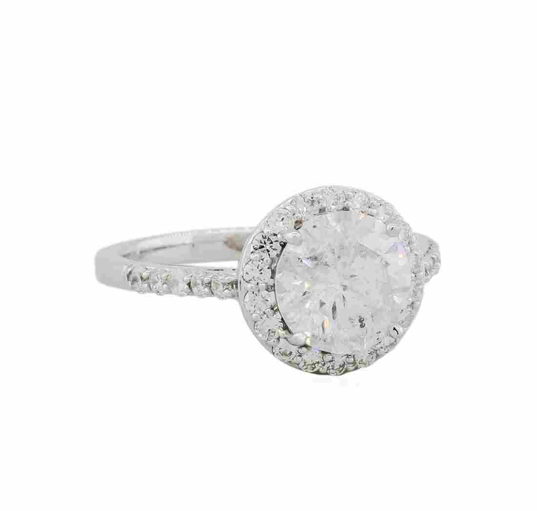 18KT White Gold 2.86ctw Round Brilliant Cut Diamond
