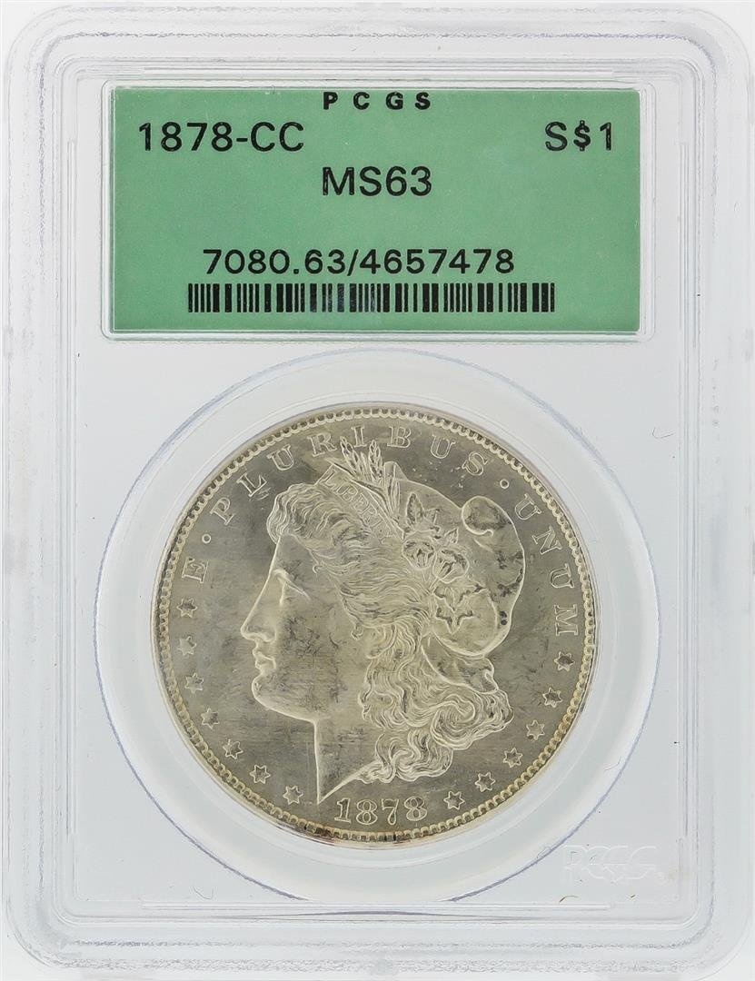 1878-CC $1 Morgan Silver Dollar Coin PCGS Graded MS63