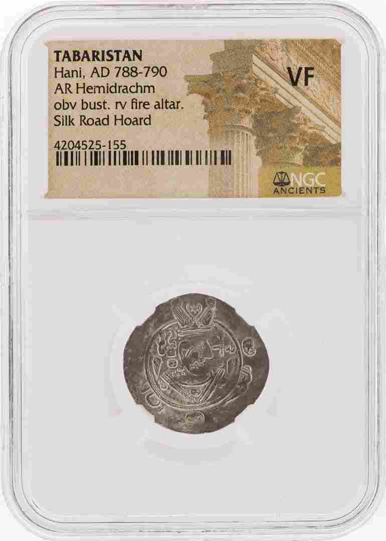 Tabaristan AD 788-790 Hemidrachm Silver Coin NGC Graded