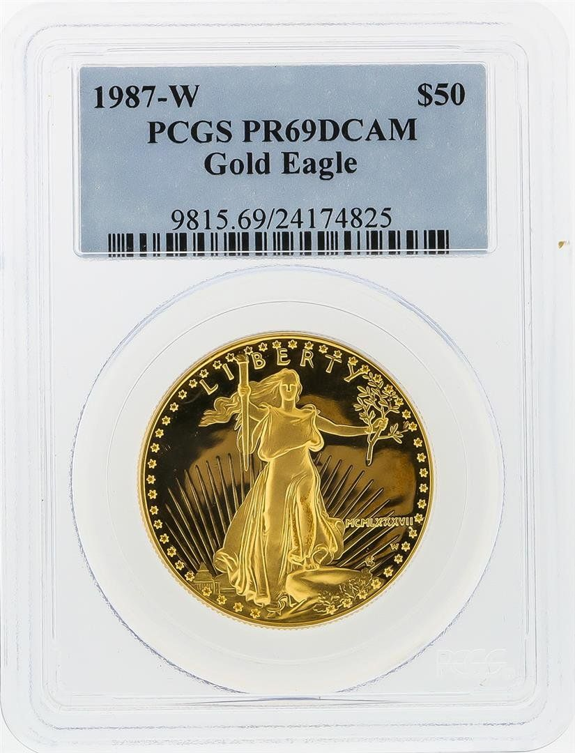 1987-W $50 American Gold Eagle Coin PCGS Graded