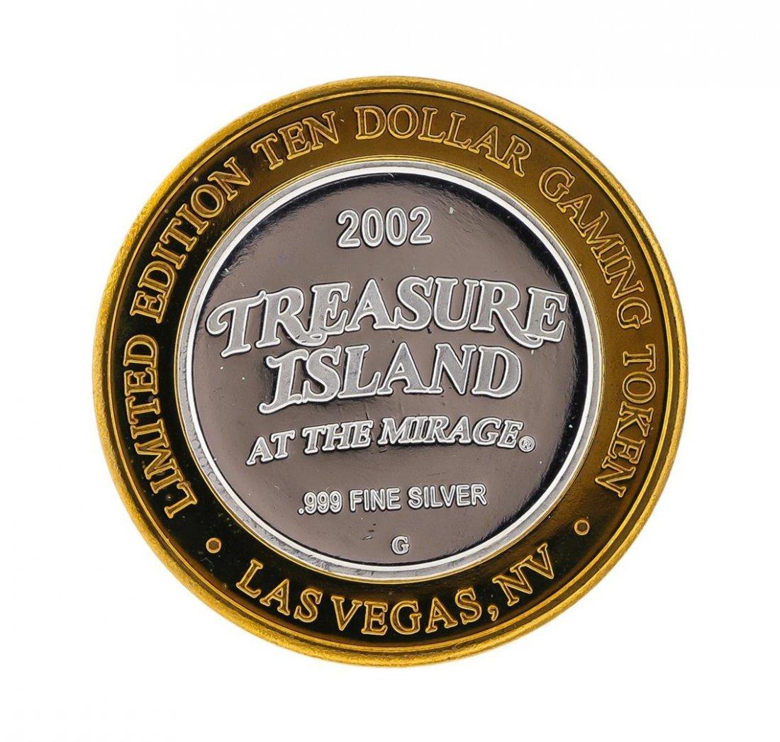 .999 Silver Treasure Island Las Vegas $10 Casino Gaming - 2