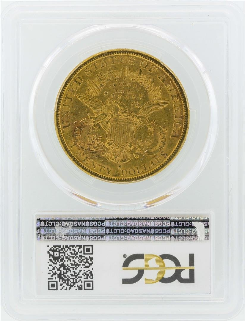 1882-S $20 Liberty Head Double Eagle Gold Coin PCGS - 2