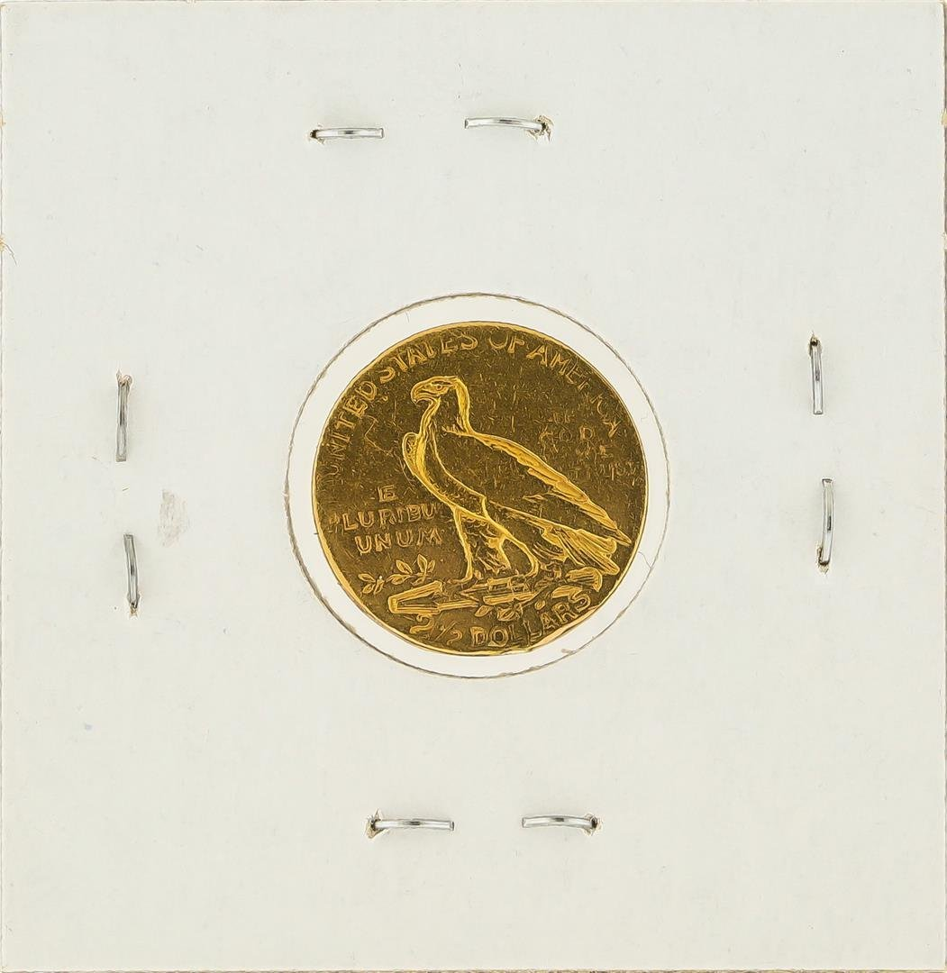 1908 $2 1/2 Indian Head Quarter Eagle Gold Coin - 2