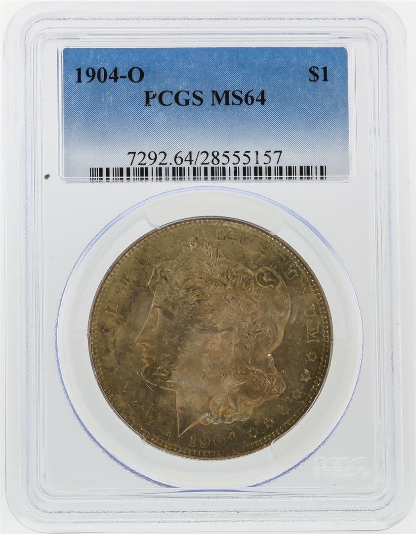 1904-O $1 Morgan Silver Dollar PCGS Graded MS64
