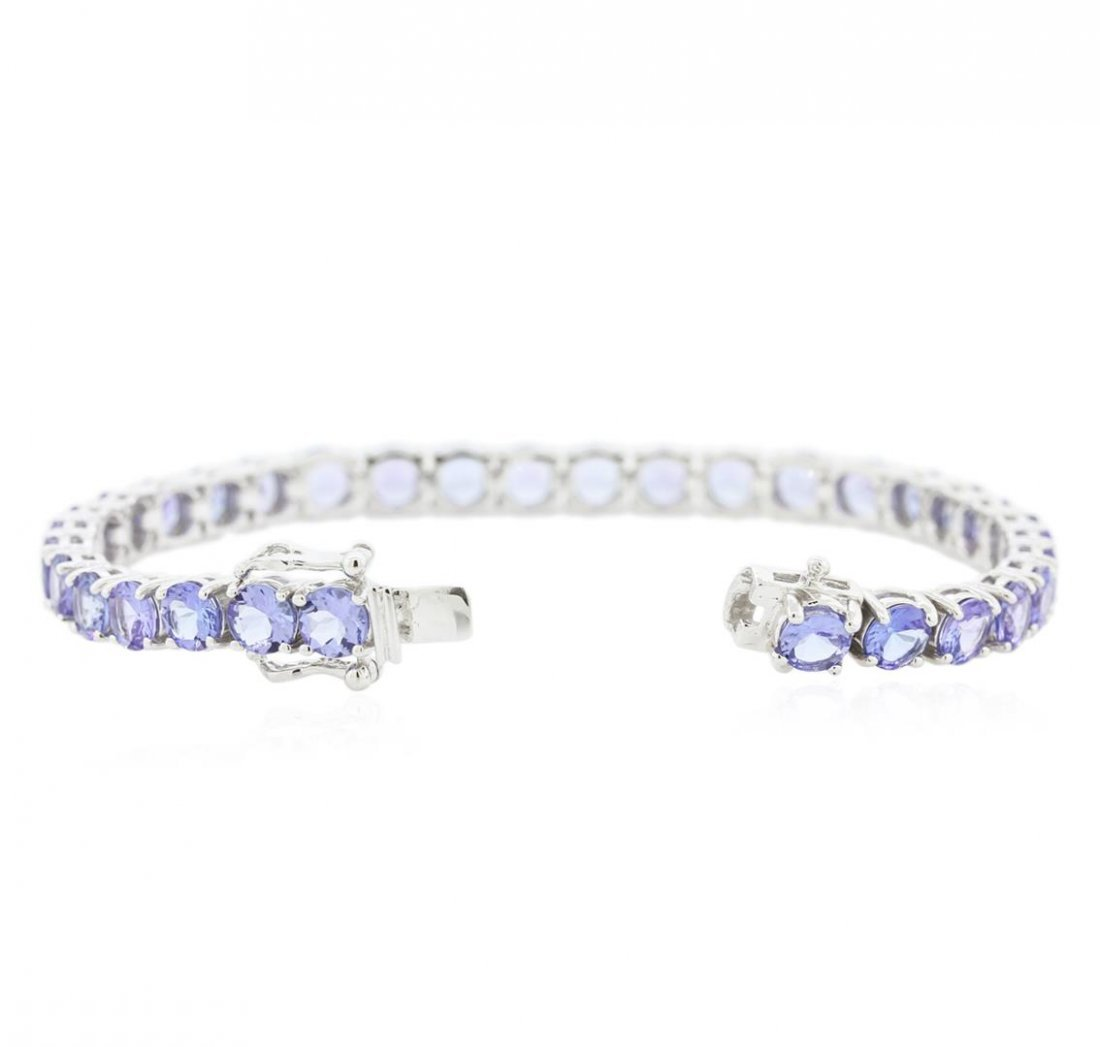14KT White Gold 14.68ctw Tanzanite Bracelet - 3