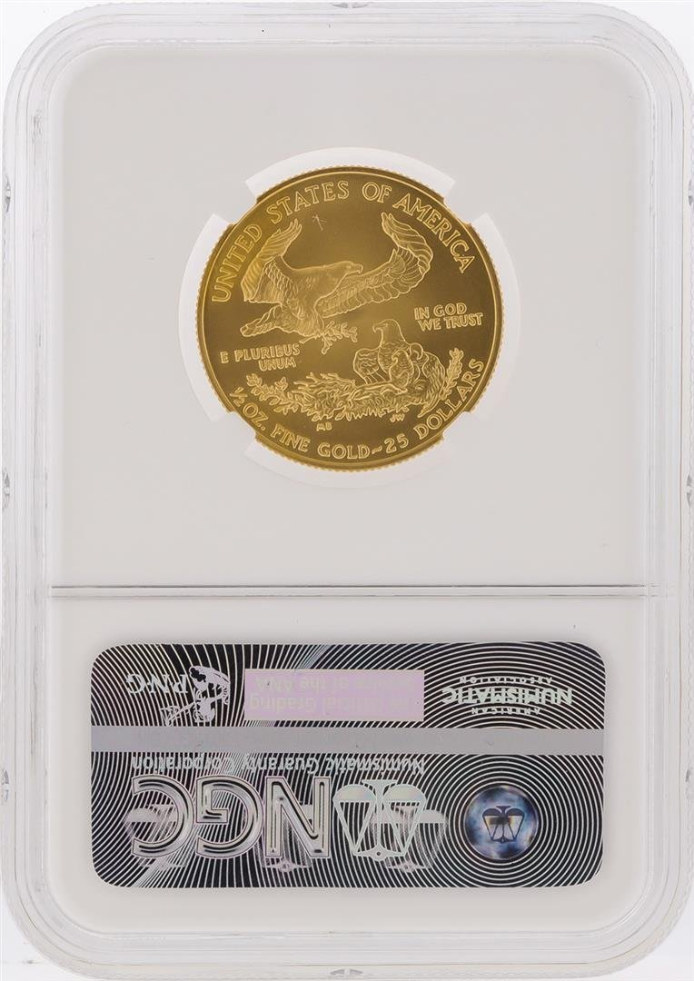 2008-W $25 Burnished American Gold Eagle Coin NGC - 2