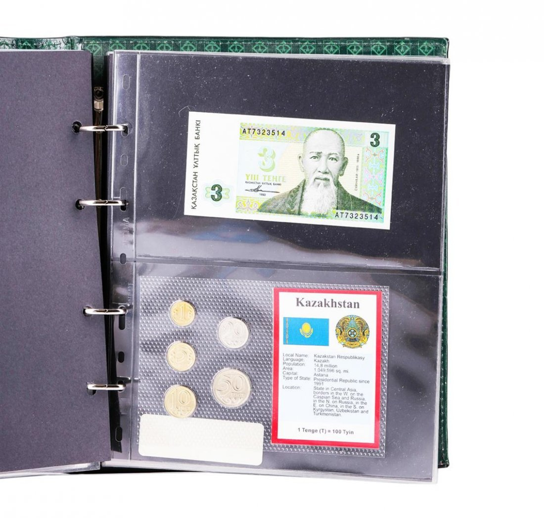 (56) Sheets of Countries Uncirculated Coins & Paper - 7