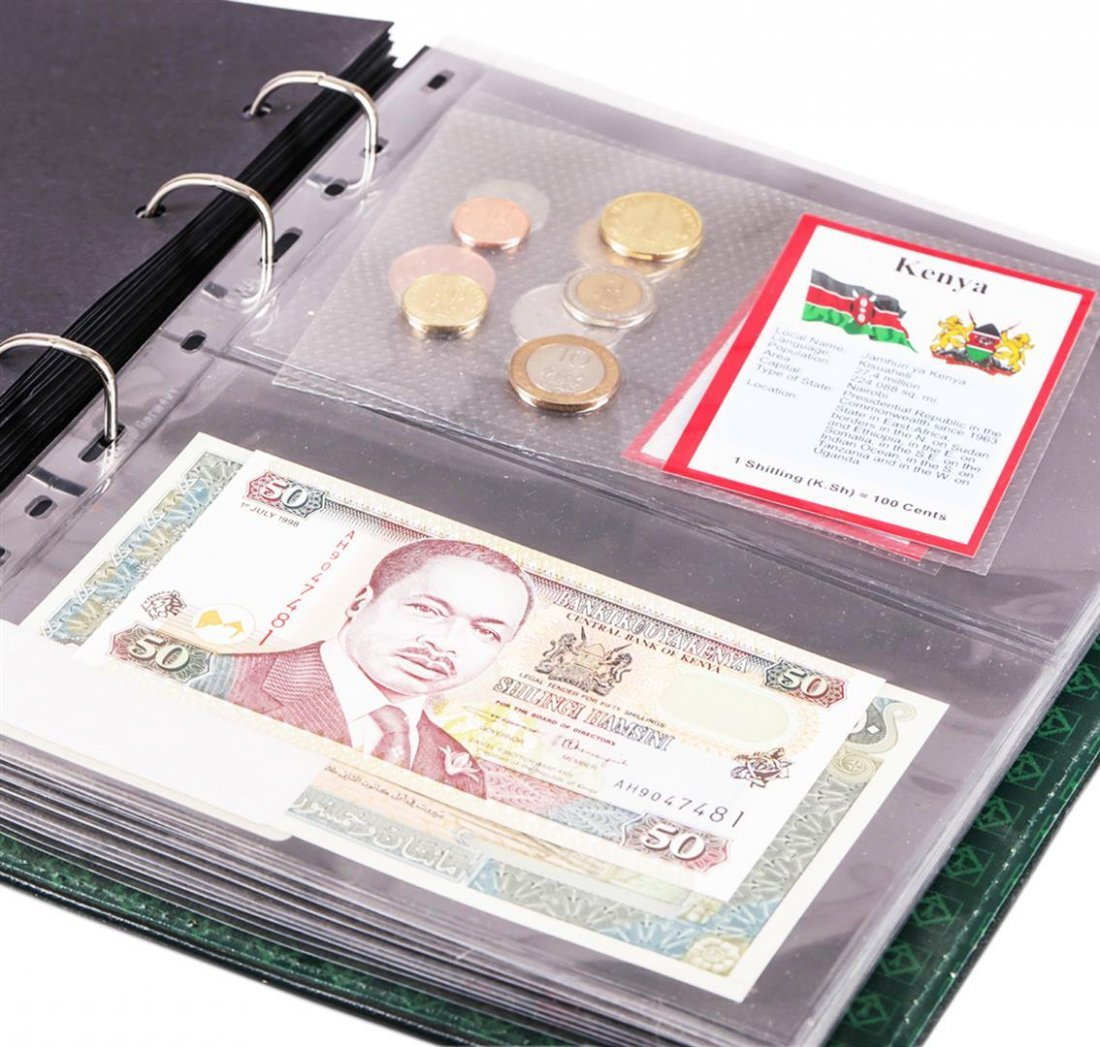 (56) Sheets of Countries Uncirculated Coins & Paper - 9