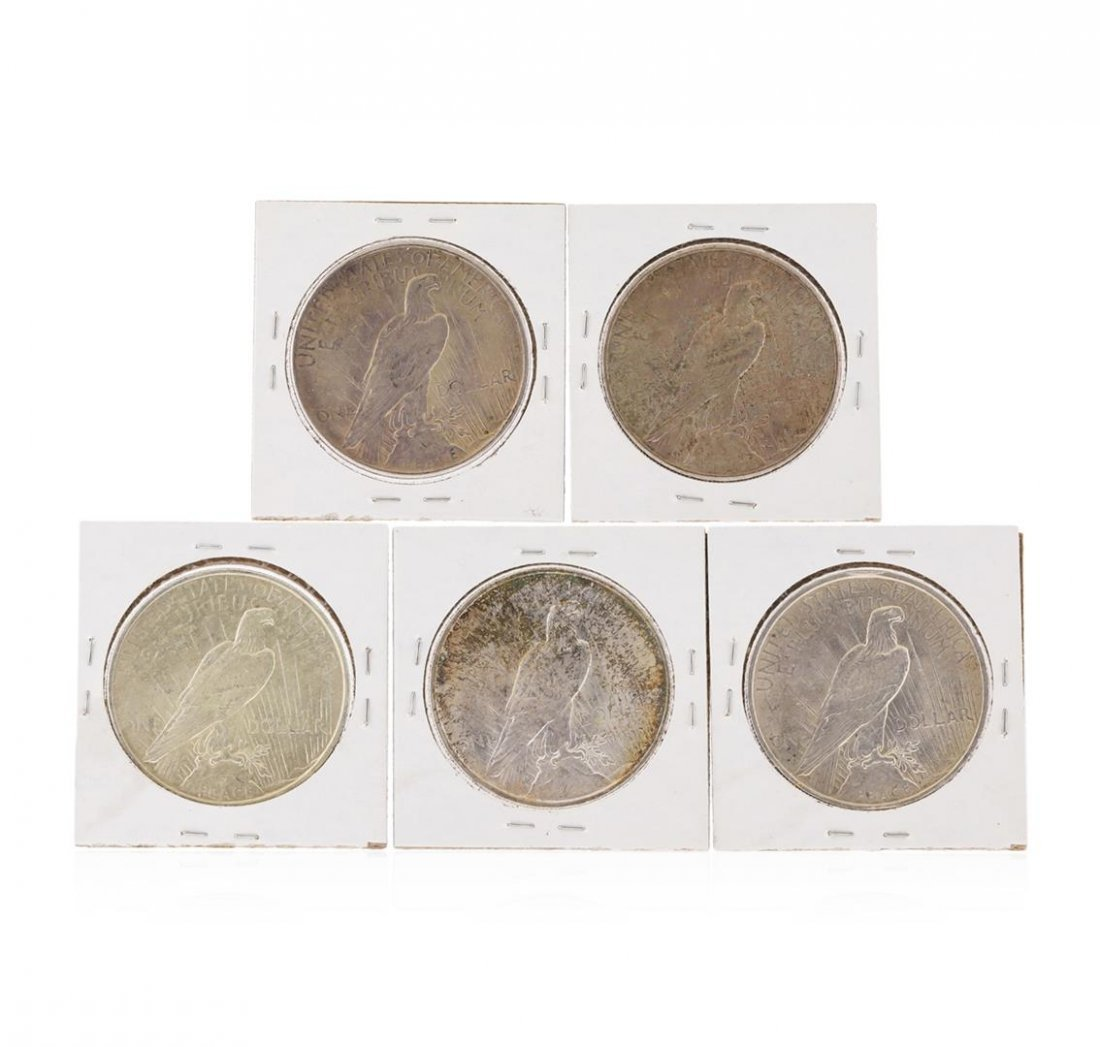 Set of 1922-1926 $1 Peace Silver Dollar Coins - 2