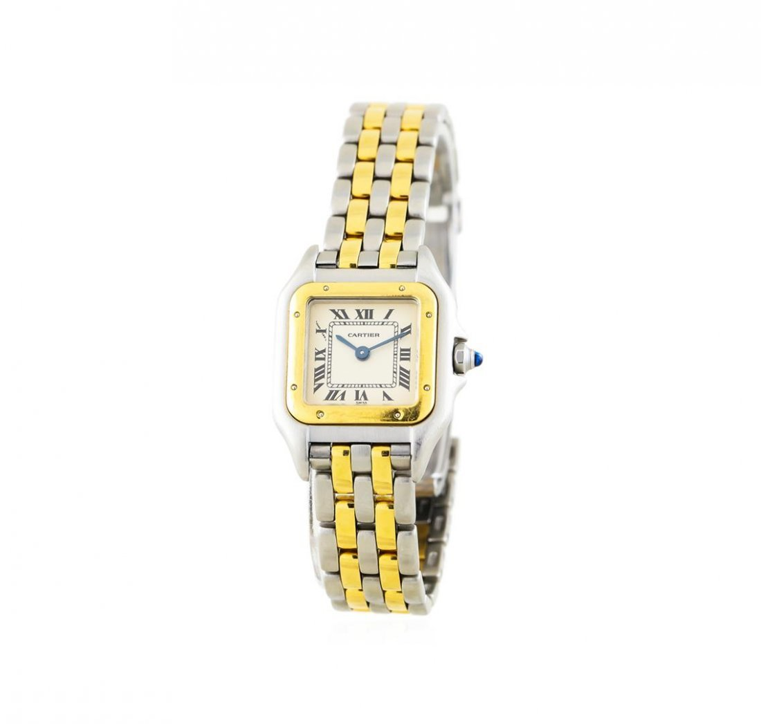 Two-Tone Stainless Steel and Gold Cartier Panthere - 2