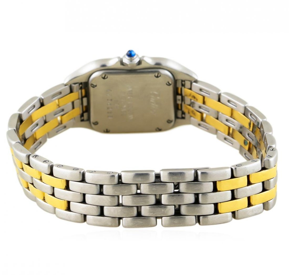 Two-Tone Stainless Steel and Gold Cartier Panthere - 3