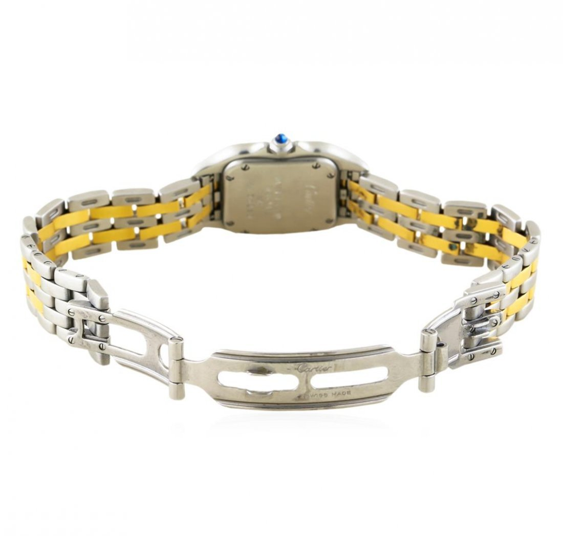 Two-Tone Stainless Steel and Gold Cartier Panthere - 4