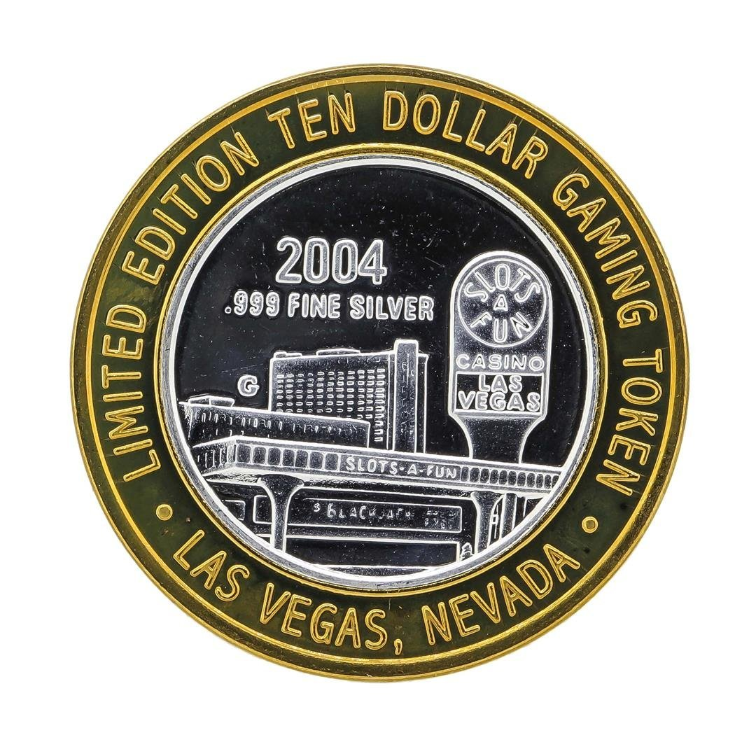 .999 Silver Clubs $10 Casino Gaming Token Limited