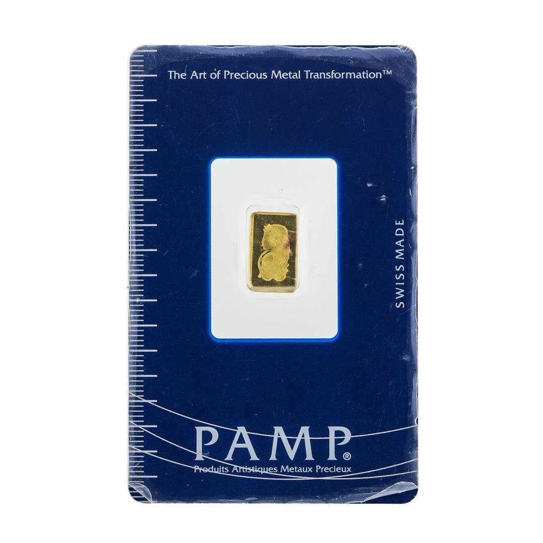 Suisse 1 Gram Fine Gold Pamp Gold Bar