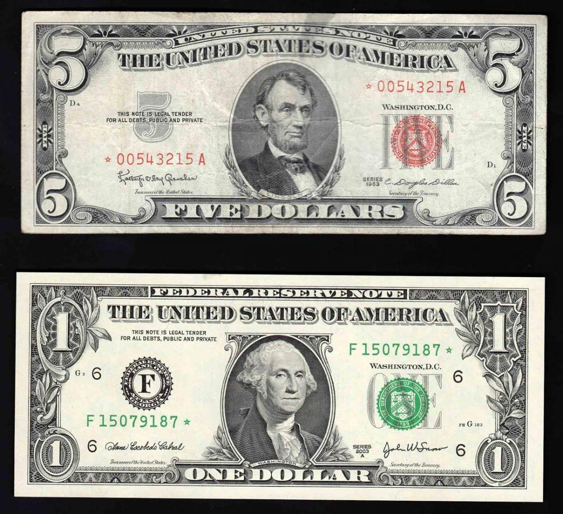 STAR Note Pack of (1) 2003A $1 Federal Reserve Note &
