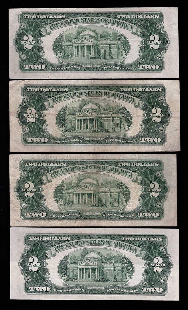 Lot of (4) 1953/A/B/C $2 Legal Tender Notes - 2