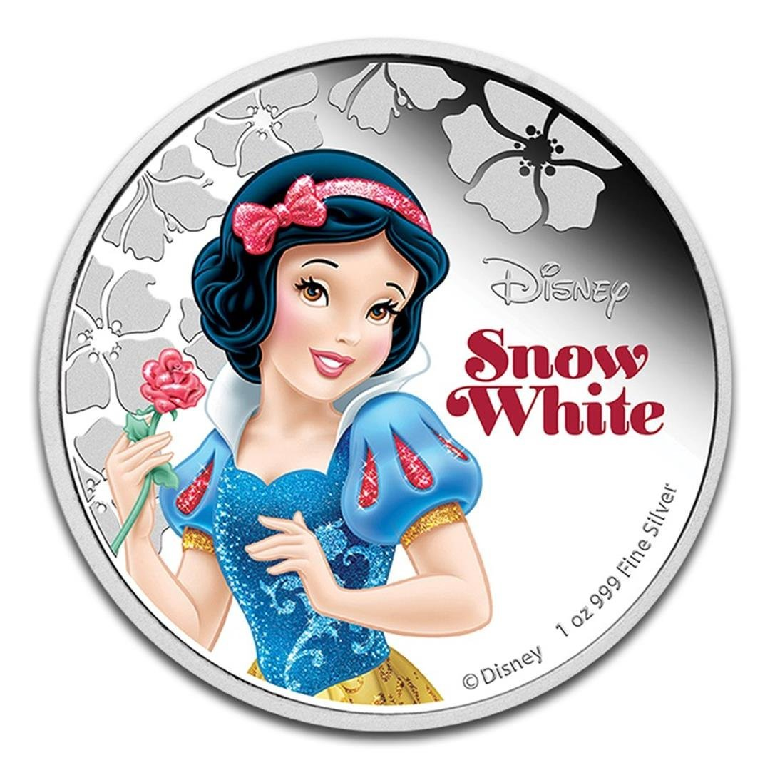 2015 $2 Disney Princess Snow White .999 Fine Silver