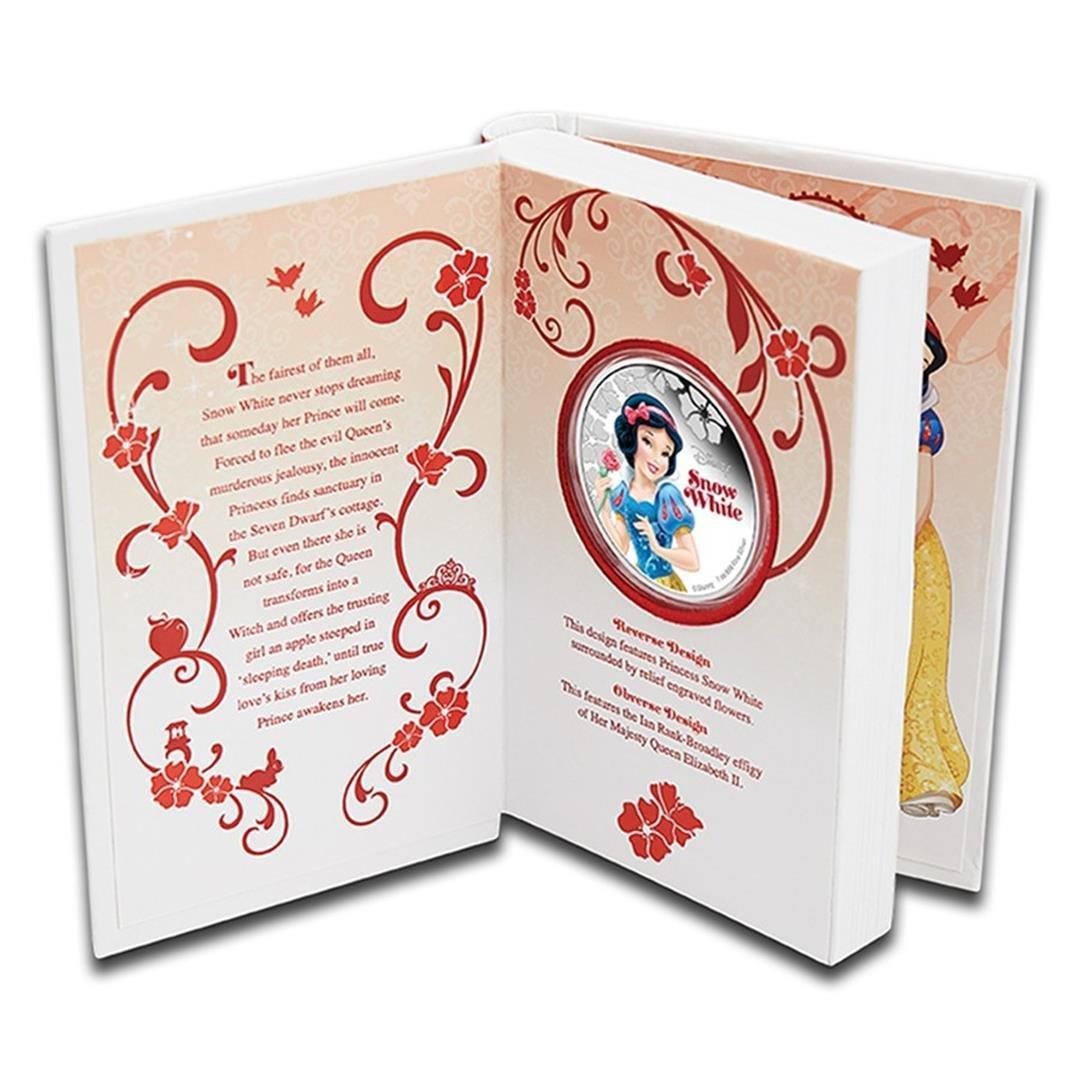 2015 $2 Disney Princess Snow White .999 Fine Silver - 3