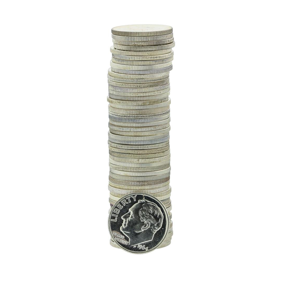 Roll of (50) 1964 Proof Roosevelt Dimes