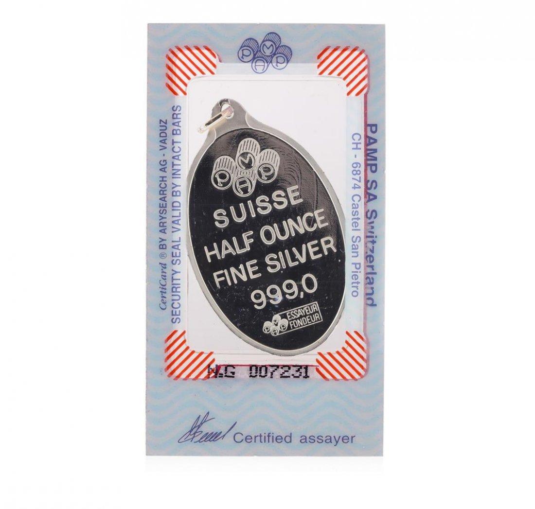 1/2 oz Pamp Suisse Half Ounce Fine Silver - 2