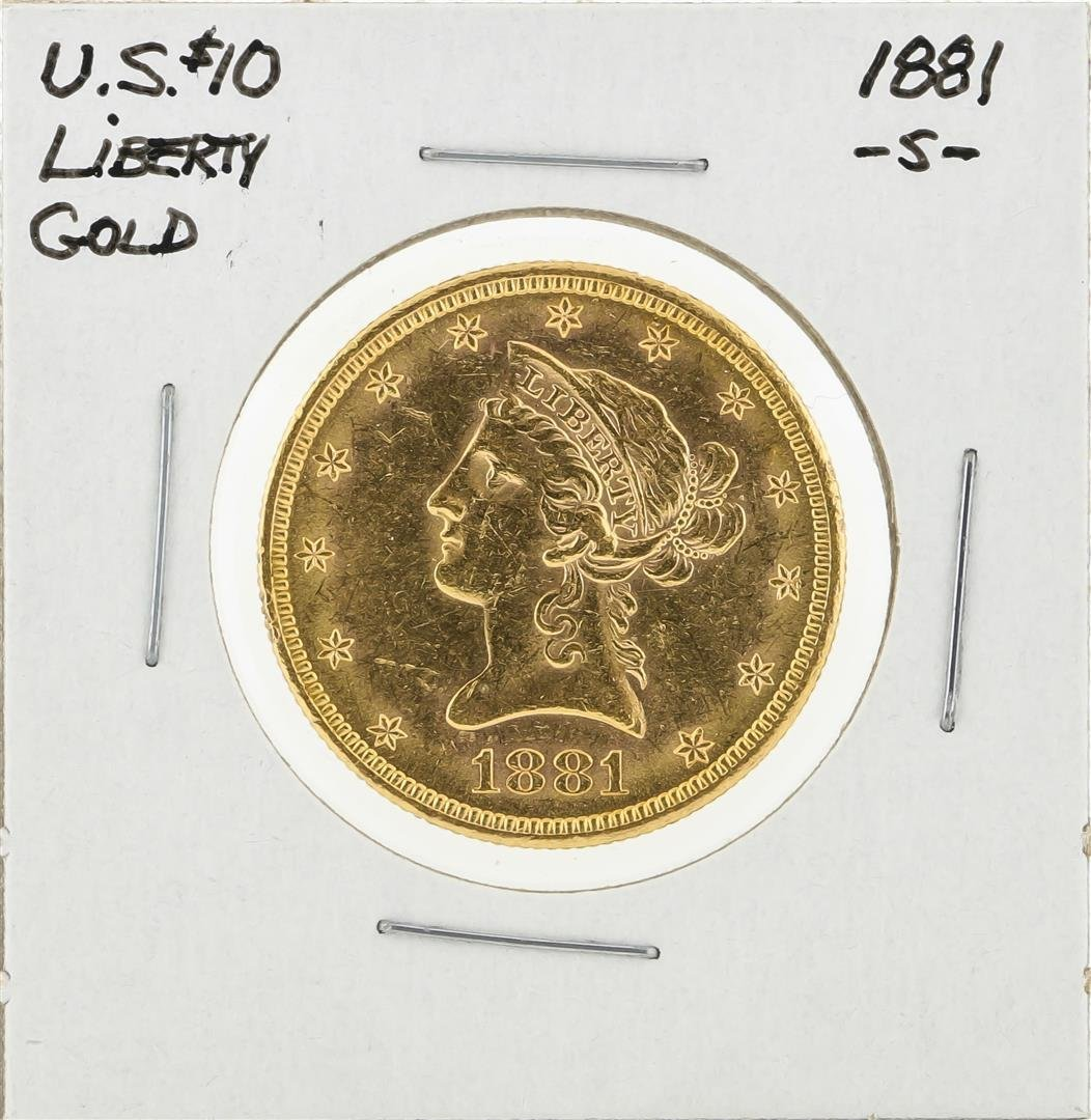 1881-S $10 Liberty Head Eagle Gold Coin