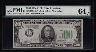 1934A $500 Federal Reserve Note San Francisco PMG