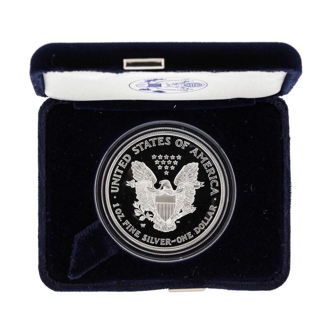 2003 1oz American Silver Eagle Proof Coin with Box - 2