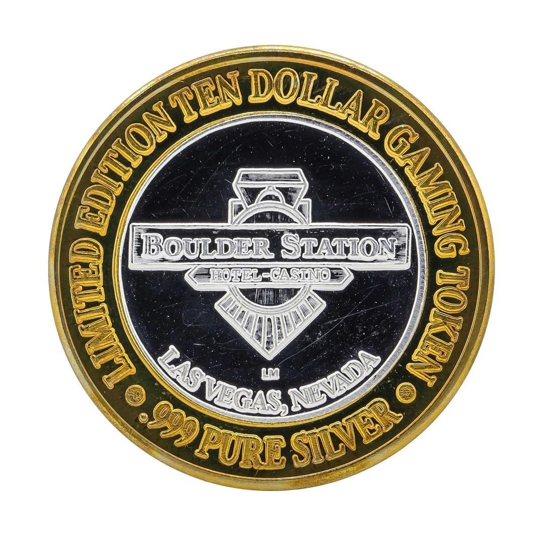 .999 Silver Boulder Station $10 Casino Gaming Token