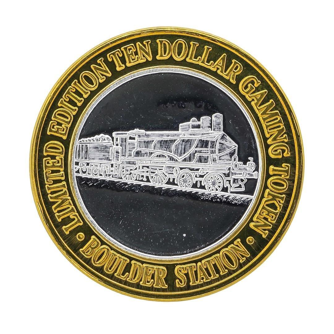 .999 Silver Boulder Station $10 Casino Gaming Token - 2