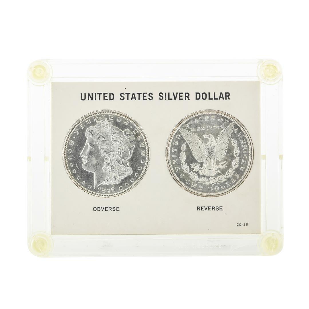 Set of (2) 1879-S $1 Morgan Silver Dollar Coins