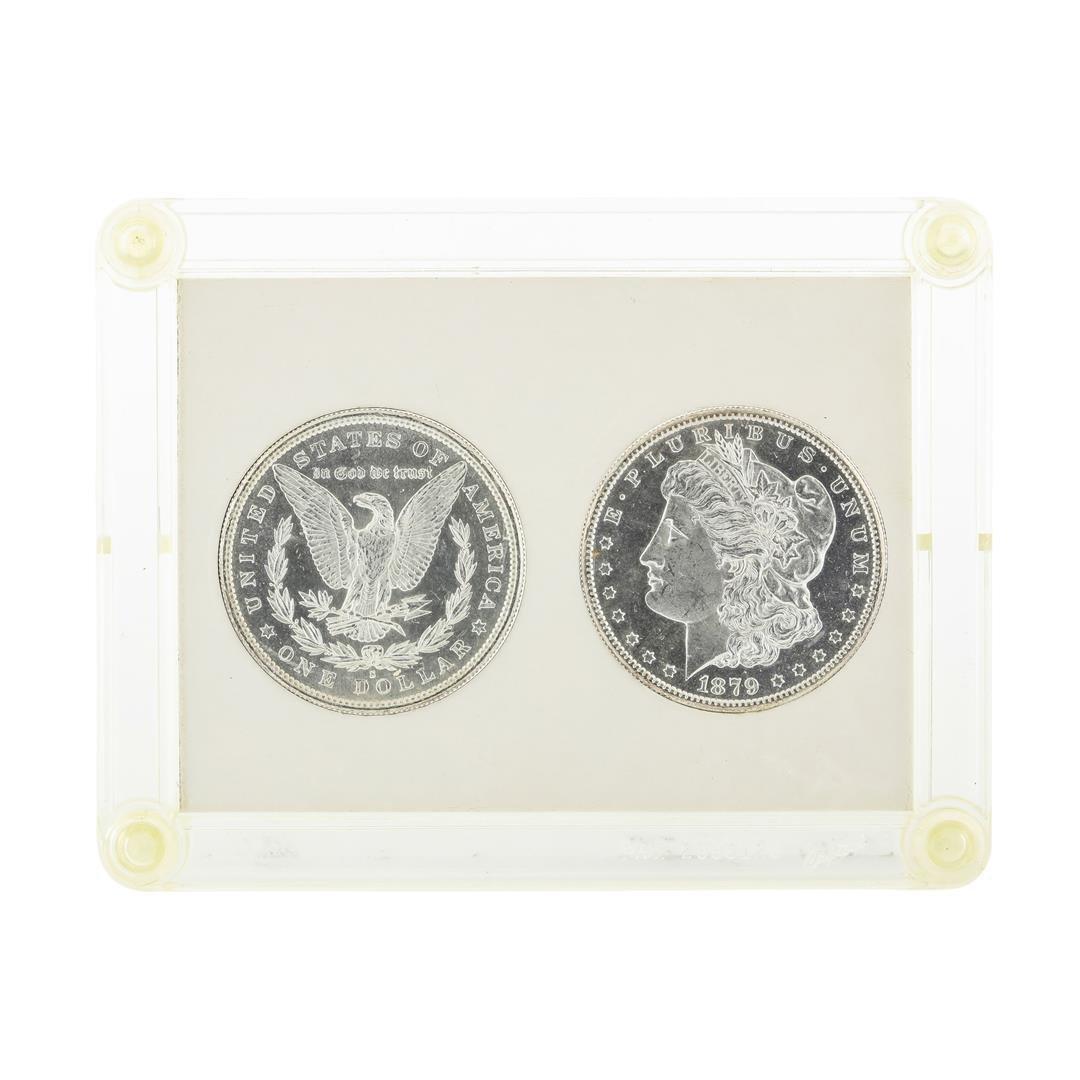 Set of (2) 1879-S $1 Morgan Silver Dollar Coins - 2